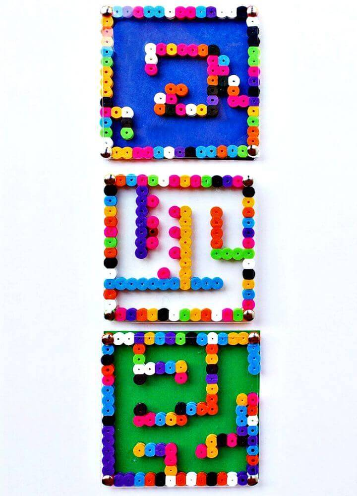 How to Make Perler Bead Mazes Toy - DIY