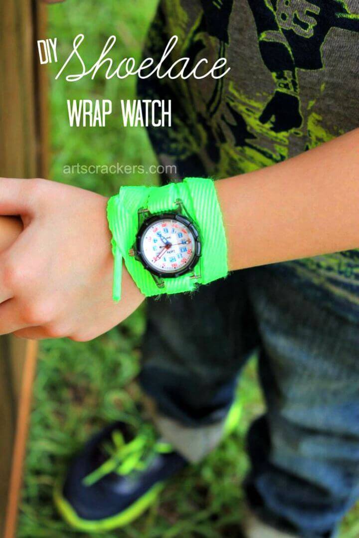 How to Make Shoelace Wrap Watch - DIY