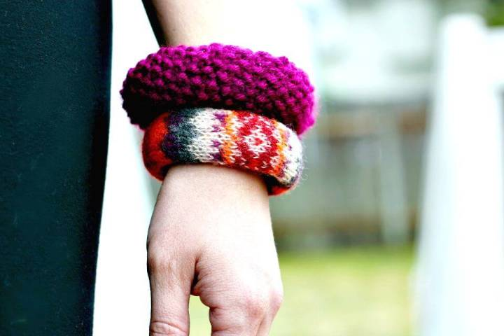 How to Make Sweater Bangle - Homemade Jewelry Ideas