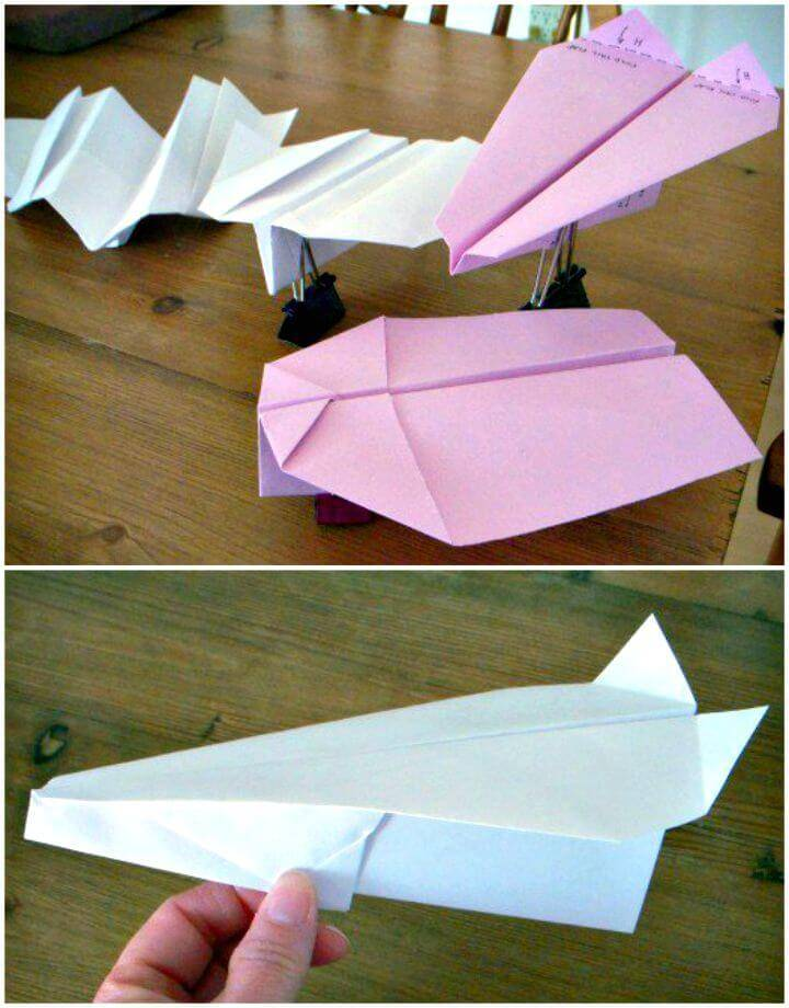 Cute DIY Boomerang Paper Airplane