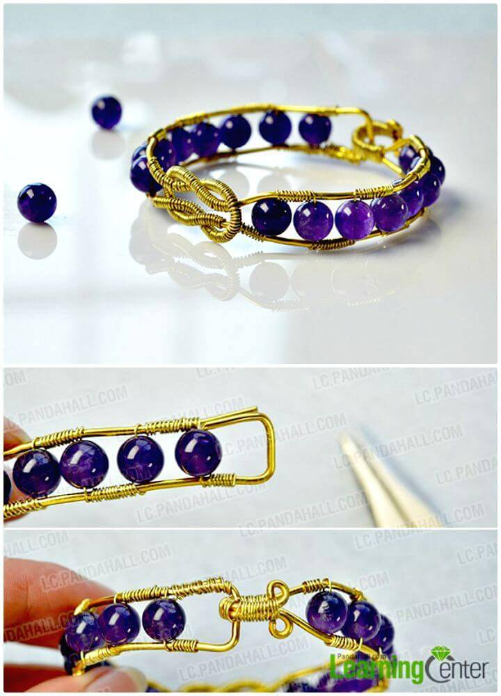 How to Make a Wire Wrapped Bracelet - DIY