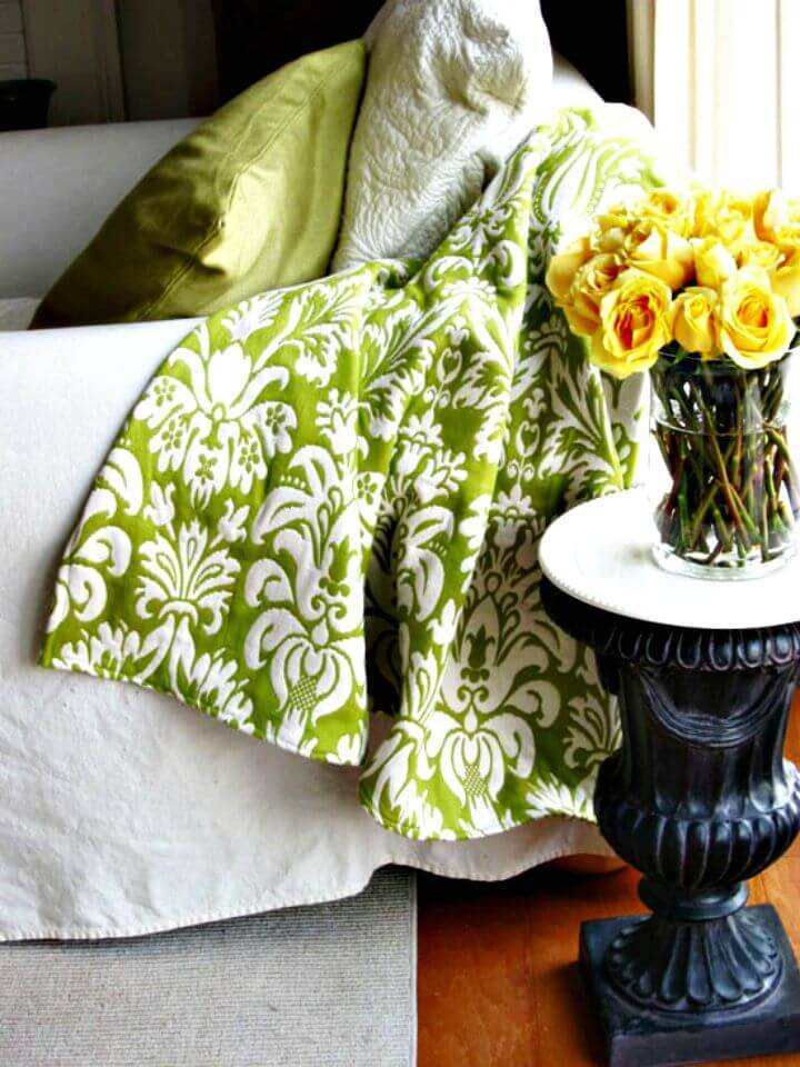 How to Sew Upholstery Fabric Throw Blanket