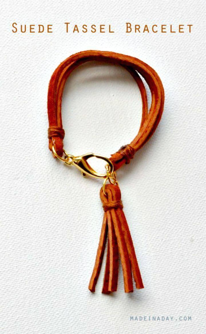 Make A Suede Tassel Bracelet - DIY