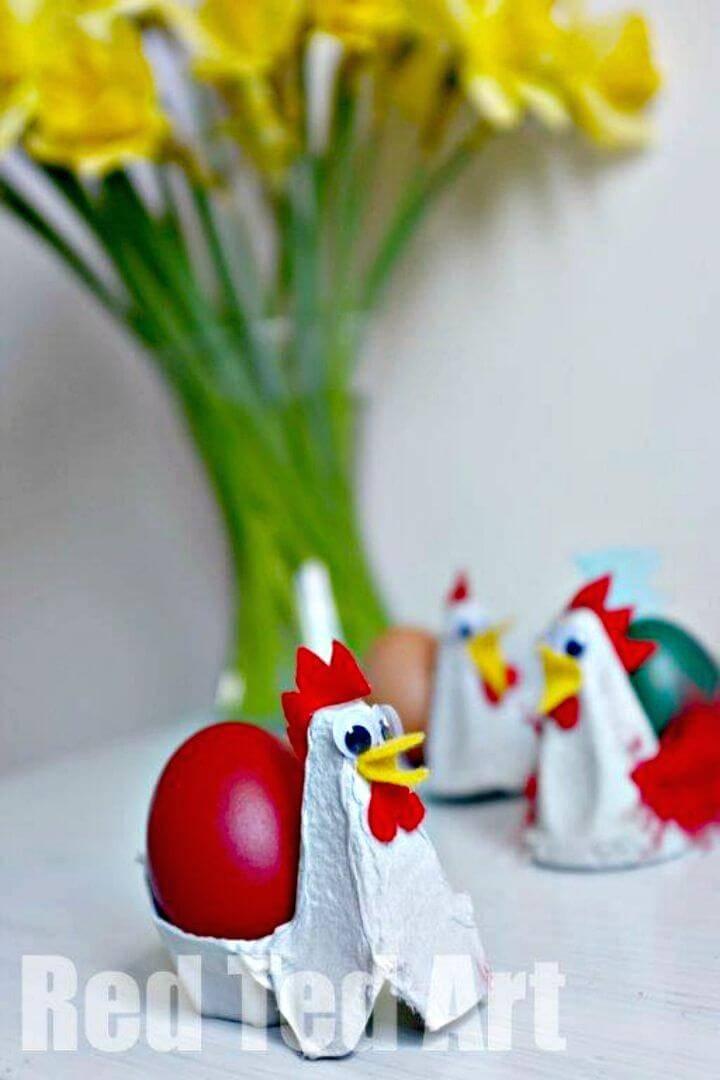 Easy to Make Egg Carton Chicken Egg Cups