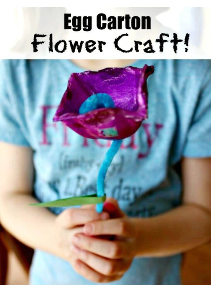 Make Egg Carton Flowers Craft
