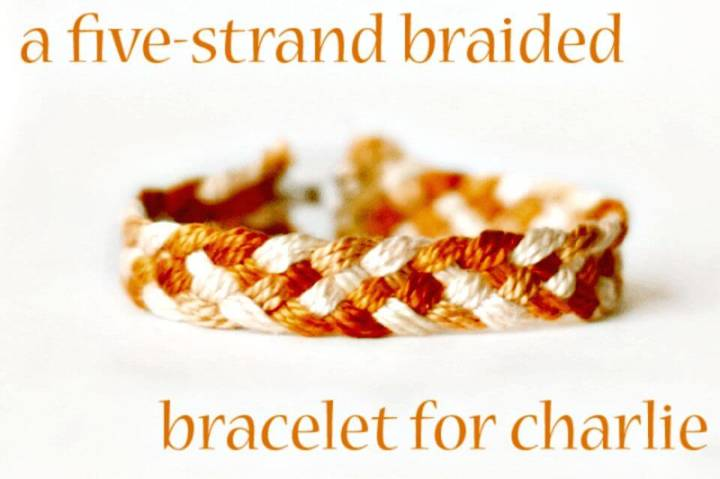 Make Five Stranded Braid Bracelets - DIY