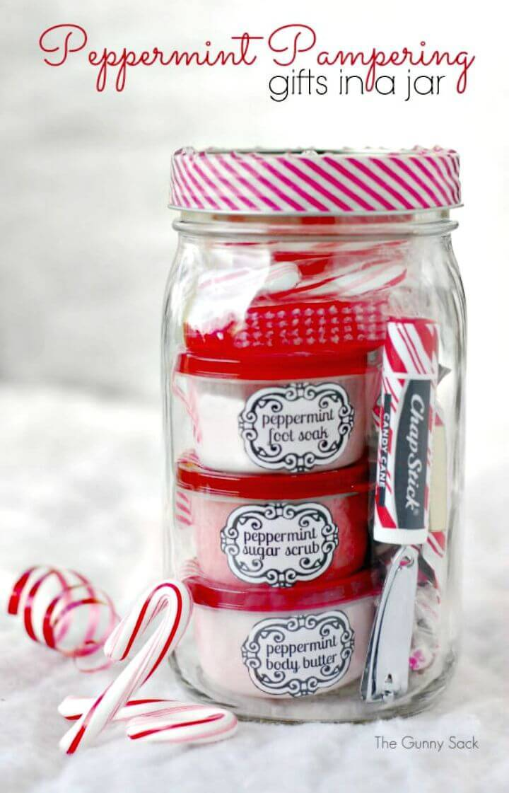 Make Peppermint Pampering Gifts In Jars - DIY Mothers Day Gifts