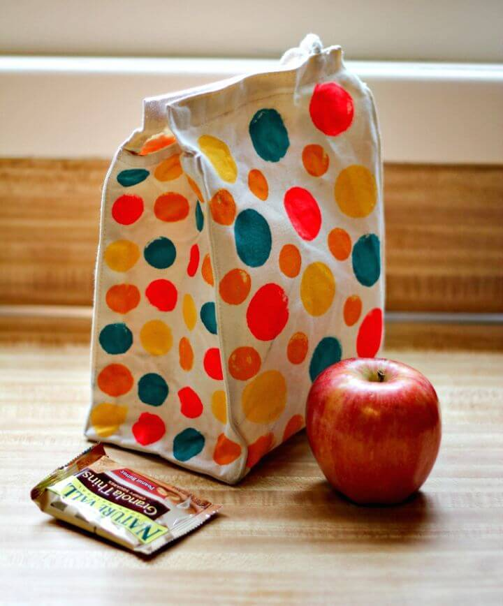 Make Polka Dotted Lunch Bag - DIY