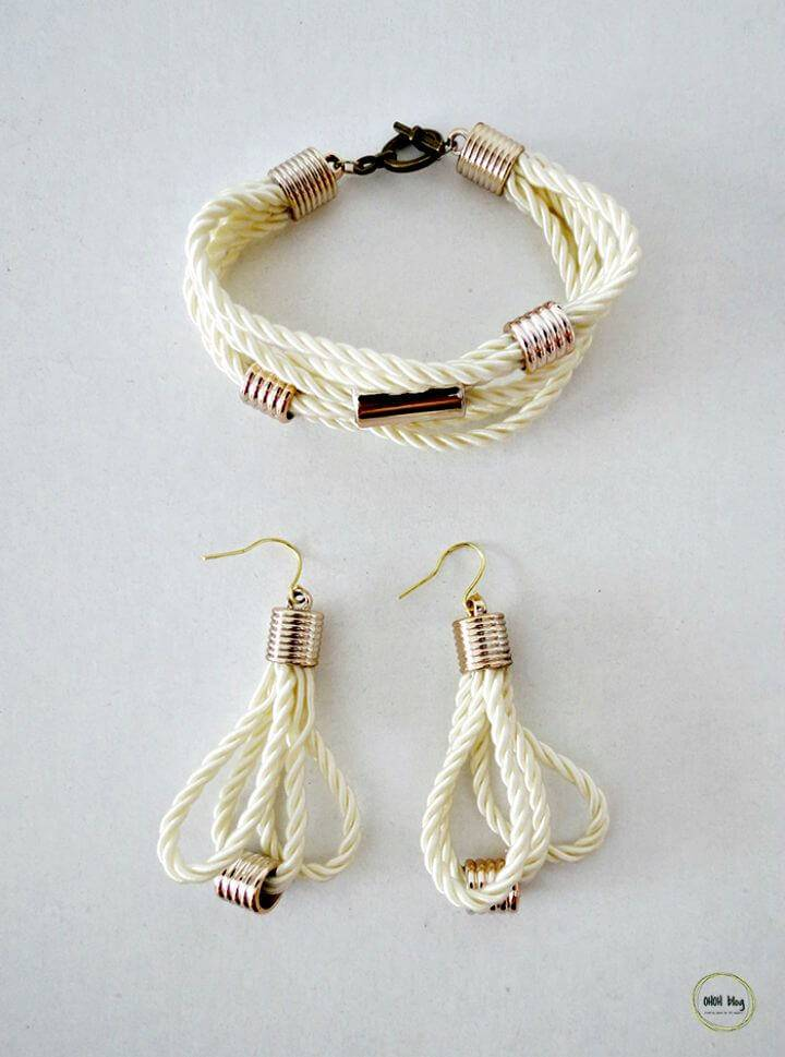 Make Stylish Rope Jewelry Bracelet - DIY Homemade Jewelry Ideas