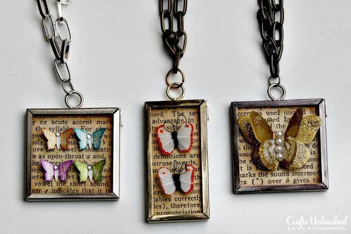 Simple DIY Butterfly Specimen Pendants