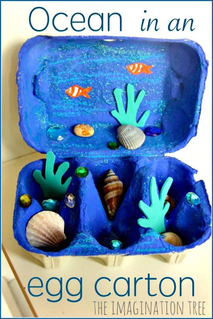 Make Your Own Egg Carton Ocean Craft - DIY