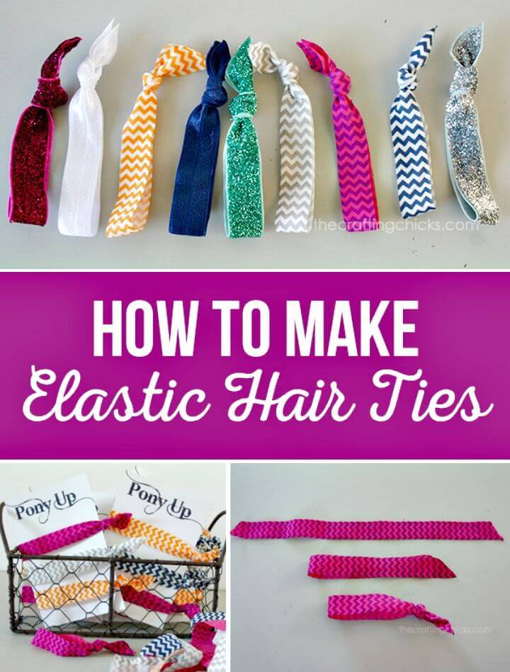 Make Your Own Elastic Hair Ties - DIY Mothers Day Gifts and Craft Ideas