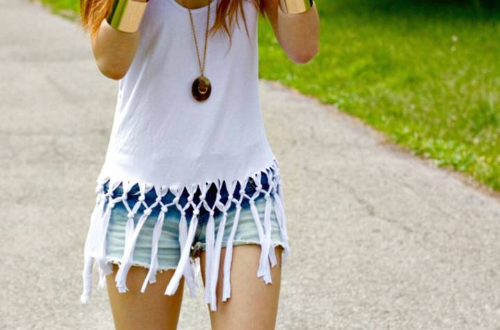 Make Your Own Fringe Net Tank - DIY