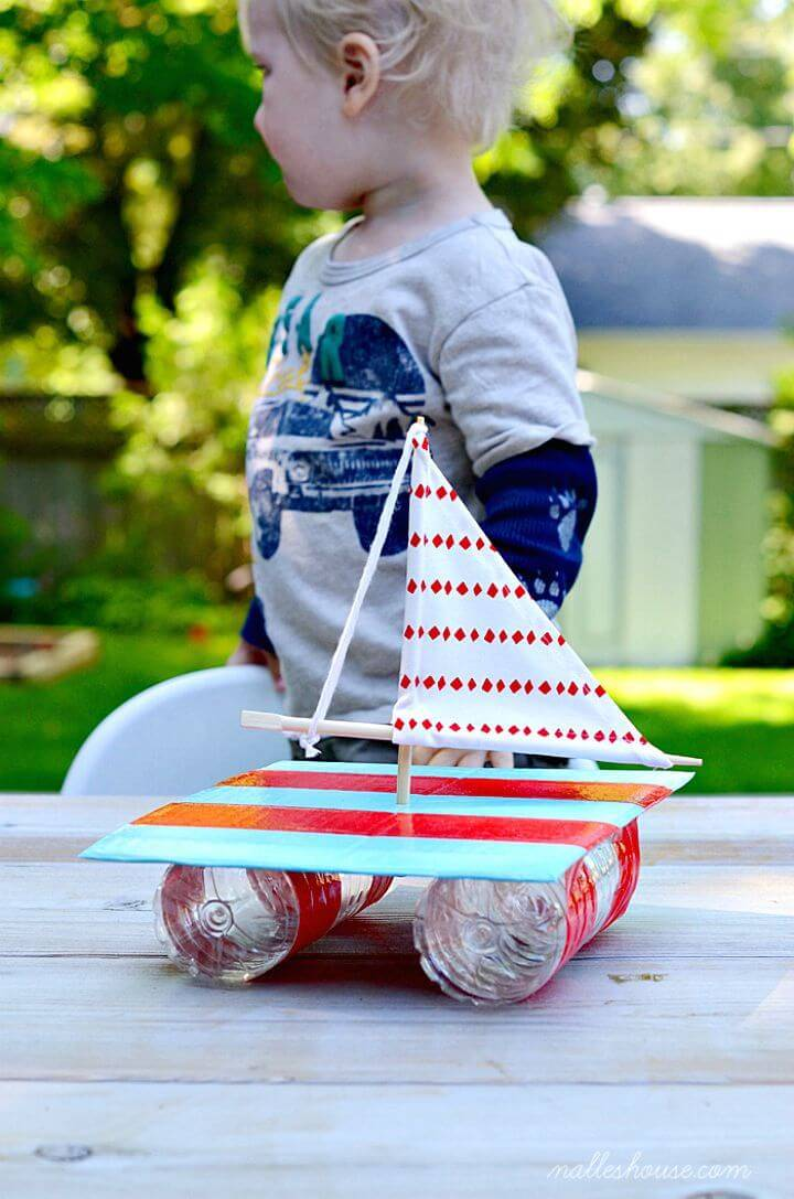 Adorable DIY Little Sailboat - Easy Summer Craft