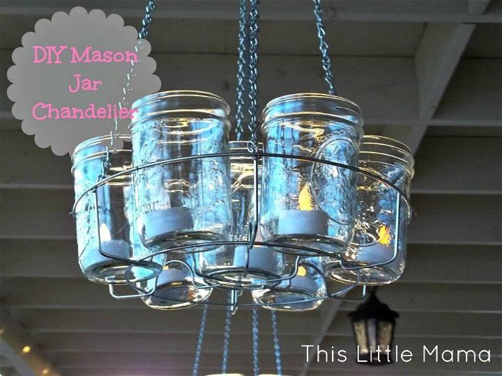Make Your Own Mason Jar Chandelier - DIY