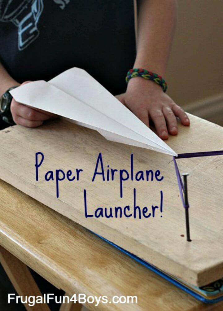 How to Build Paper Airplane Launcher