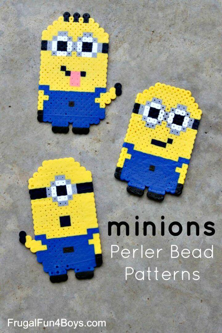 Make Your Own Perler Bead Minions