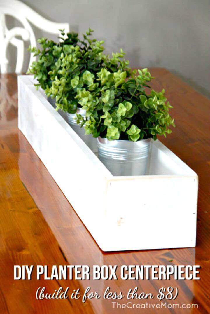 Inexpensive DIY Planter Box Centerpiece