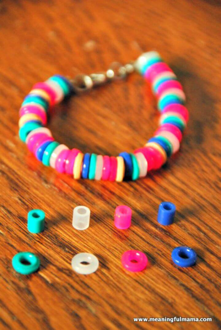 How to Make Your Own Plastic Perler Bead Bracelets - DIY