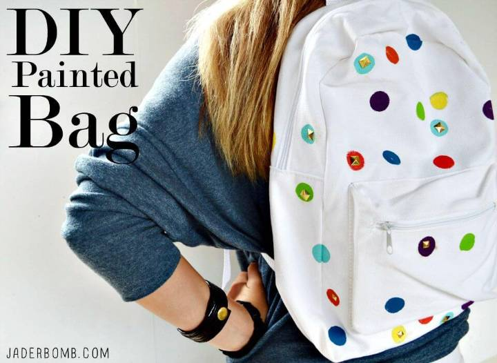 Make Your Own Polka Dot Bag - DIY Makeover