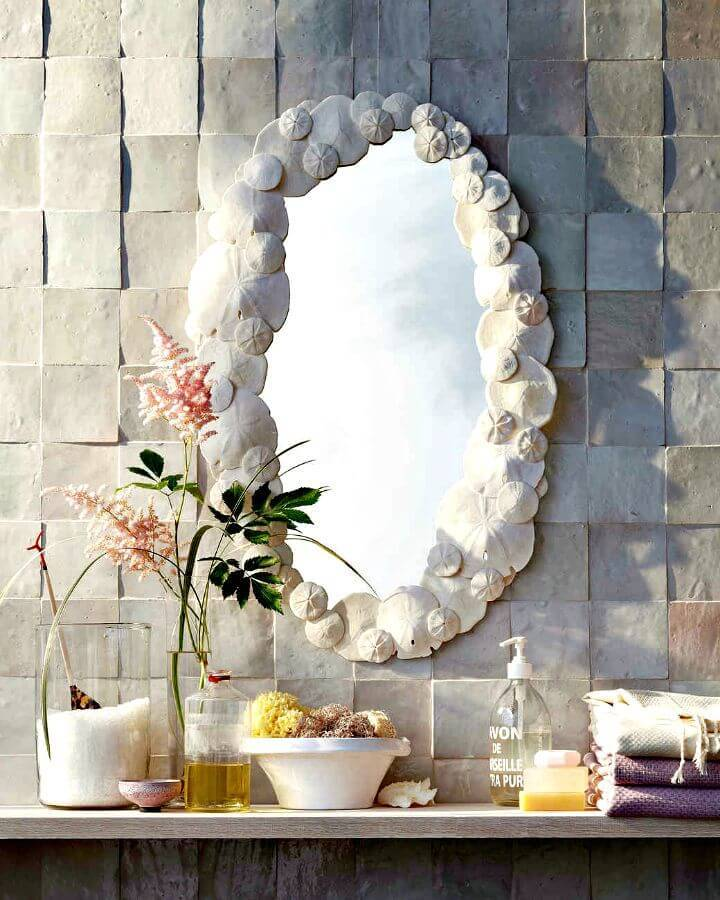 Make Your Sand Dollar Mirror - DIY Coastal Decor Ideas