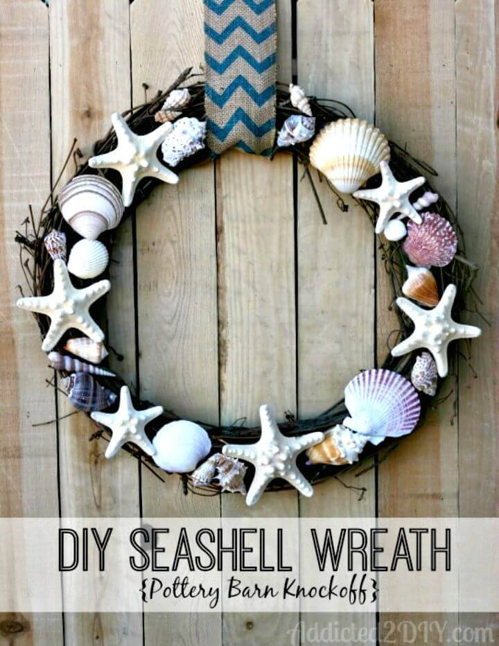 Make Your Own Seashell Wreath - DIY for Summer
