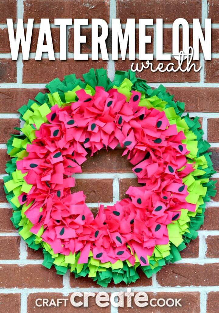 Make Your Own Watermelon Wreath - DIY