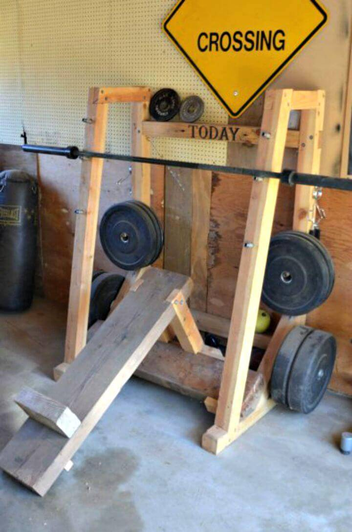 How to DIY Weight Rack and Bench