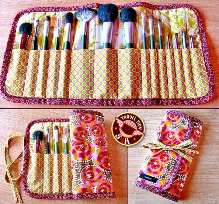 Make a Roll-up Makeup Brush Case - DIY Makeup Organizer