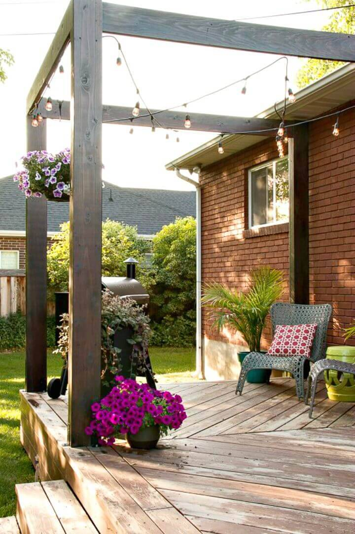 Modern DIY Deck Pergola Plan