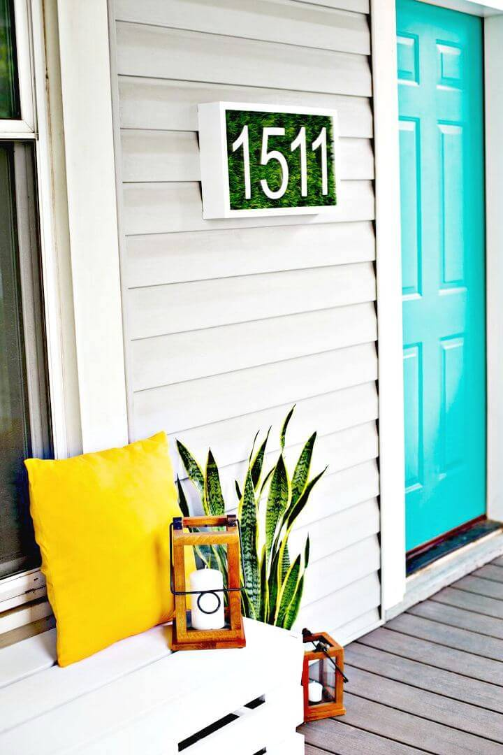 Modern DIY House Number
