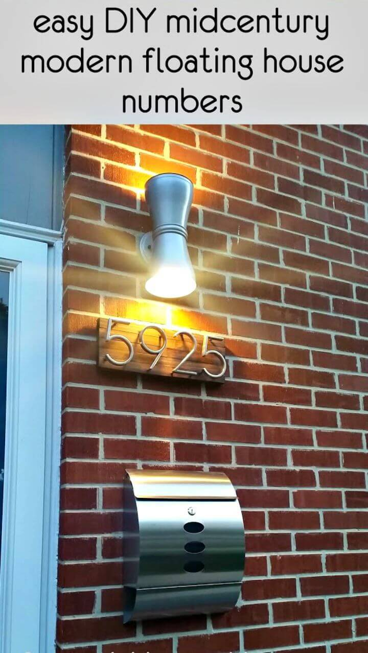 Modern DIY Mid-century House Numbers