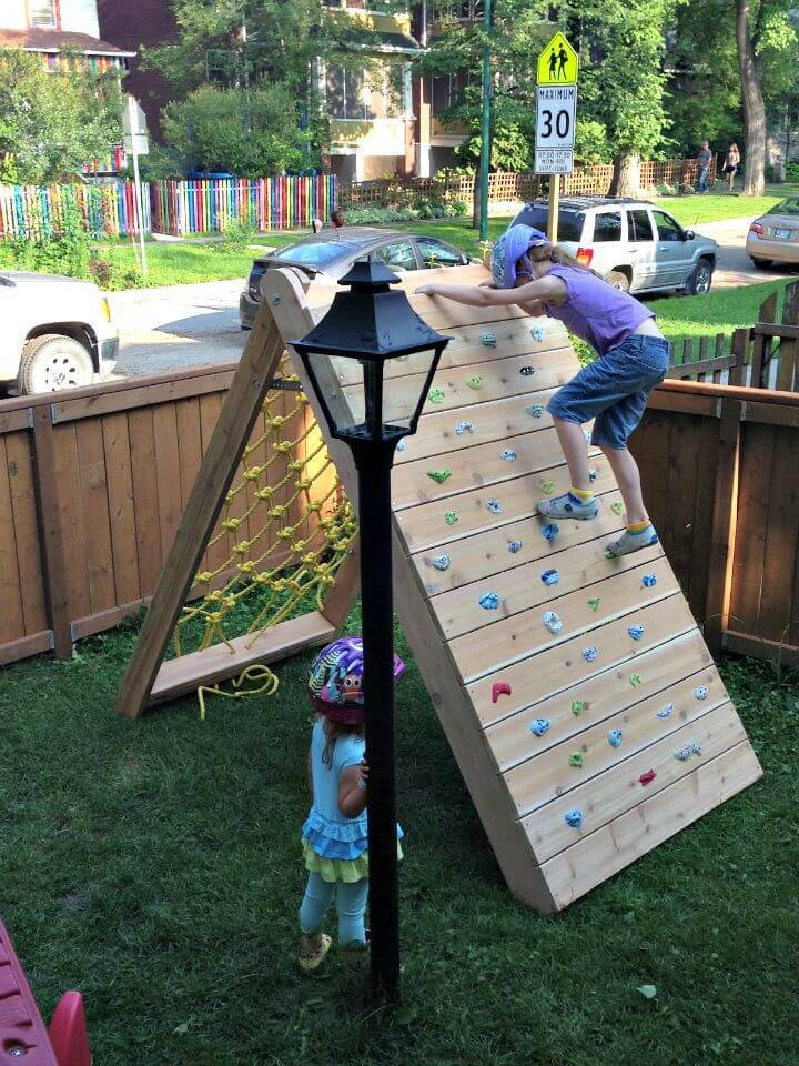 DIY Climbing Wall and Cargo Net for Kids