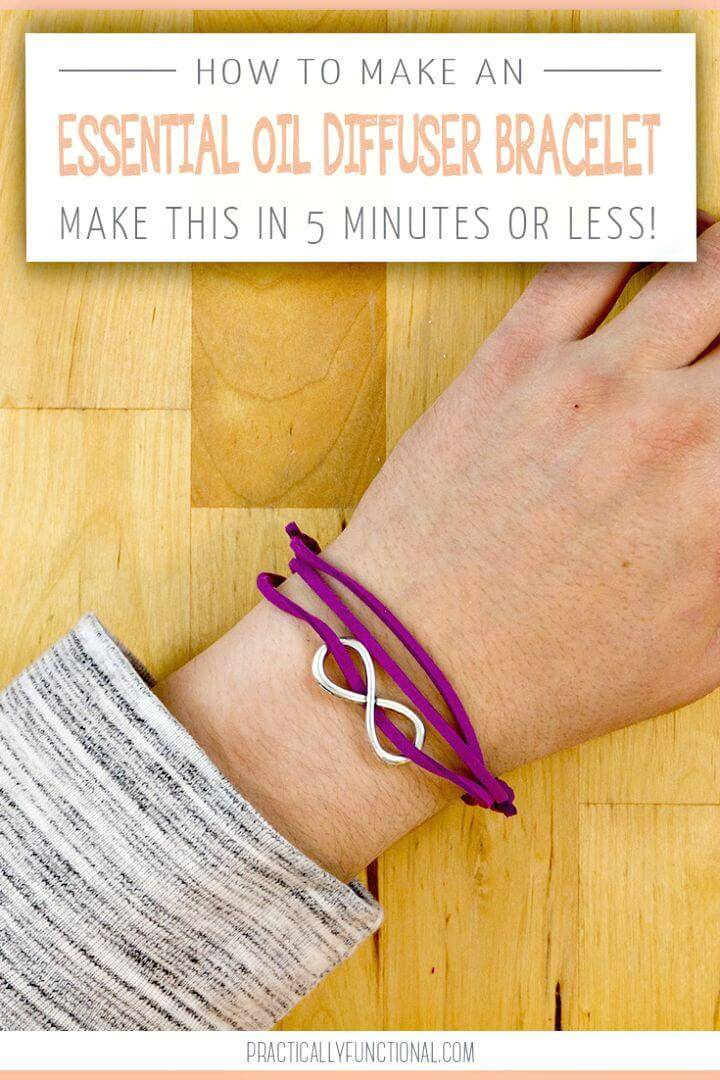Quick DIY Essential Oil Diffuser Bracelet