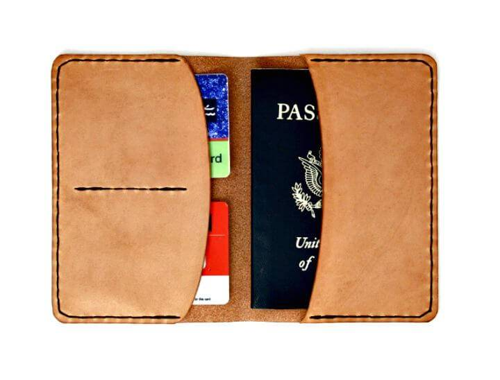 Quick DIY Leather Passport Wallet