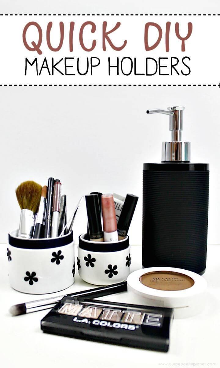 Quick DIY Makeup Storage