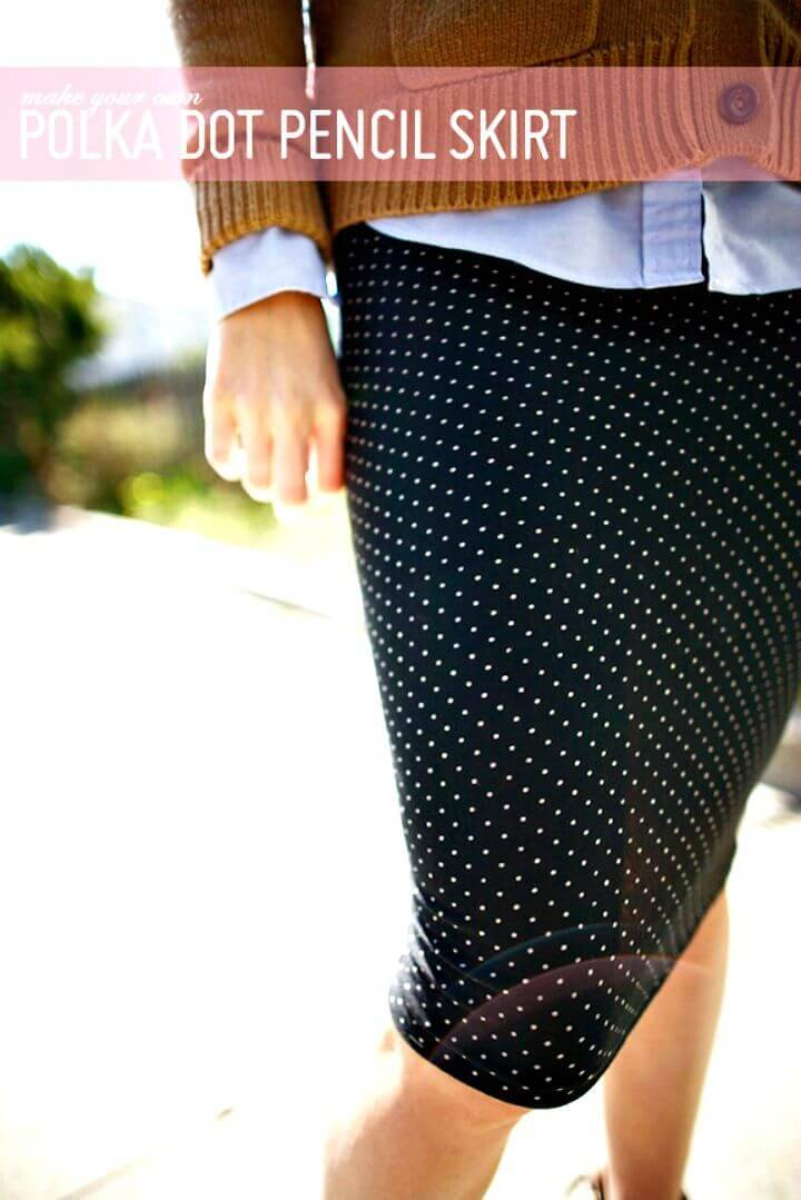 DIY Polka Dot Pencil Skirt - Budget-friendly Dress Project
