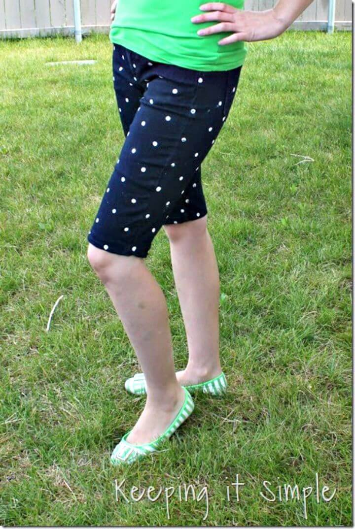 Quick DIY Polka Dot Shorts