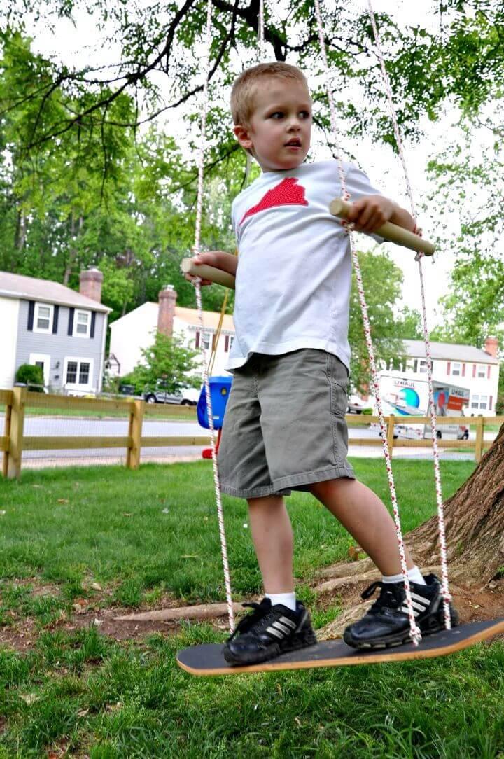 DIY Skateboard Swing for Kids