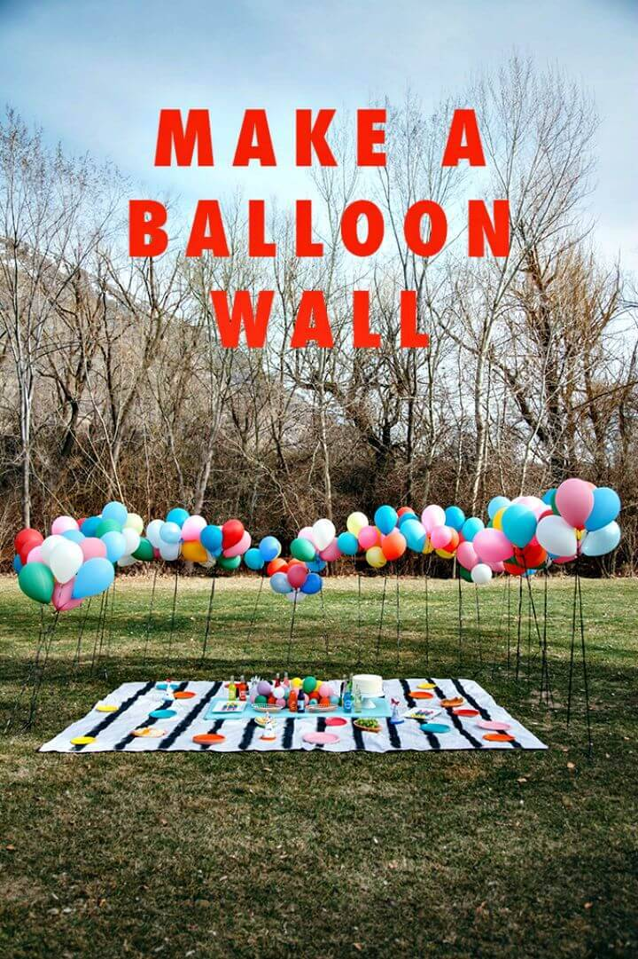 Simple DIY Balloon Wall - Summer Party Decorations