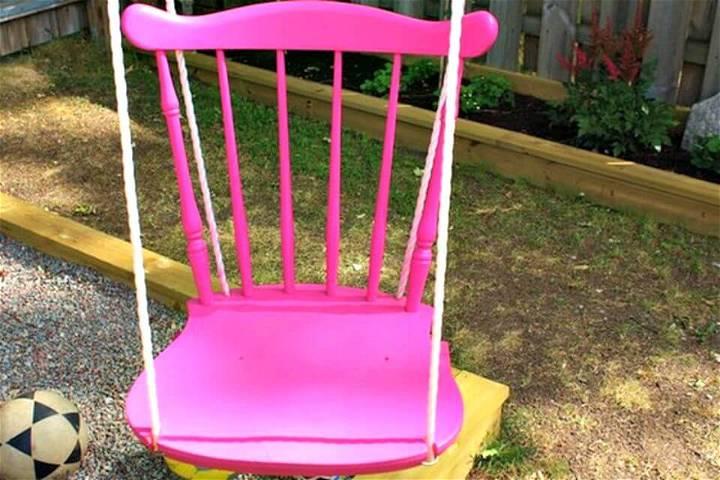 Simple DIY Chair Tree Swing