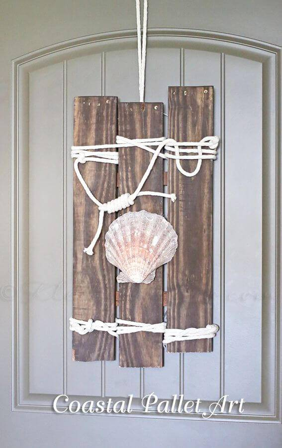 Simple DIY Coastal Pallet Art - DIY Pallet Ideas