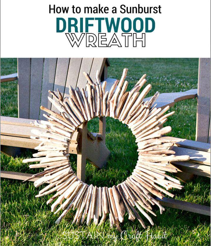 Simple DIY Driftwood Summer Wreath