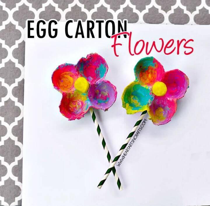 Beautiful Egg Carton Flowers - Simple DIY Crafts