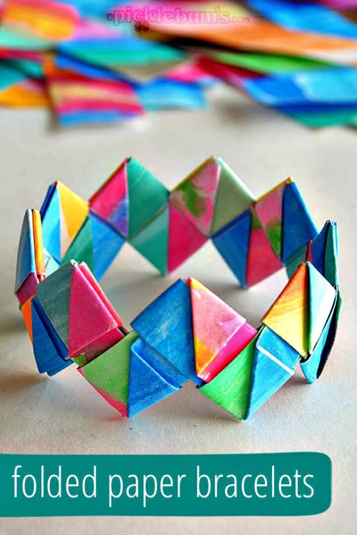 Simple DIY Folded Paper Bracelets