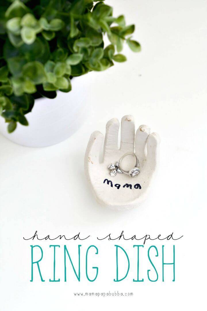 DIY Hand-Shaped Ring Dish - Mother's Day Gift
