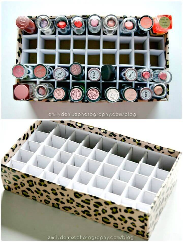 Simple DIY Lipstick Holder - Makeup Organizer/Storage Ideas