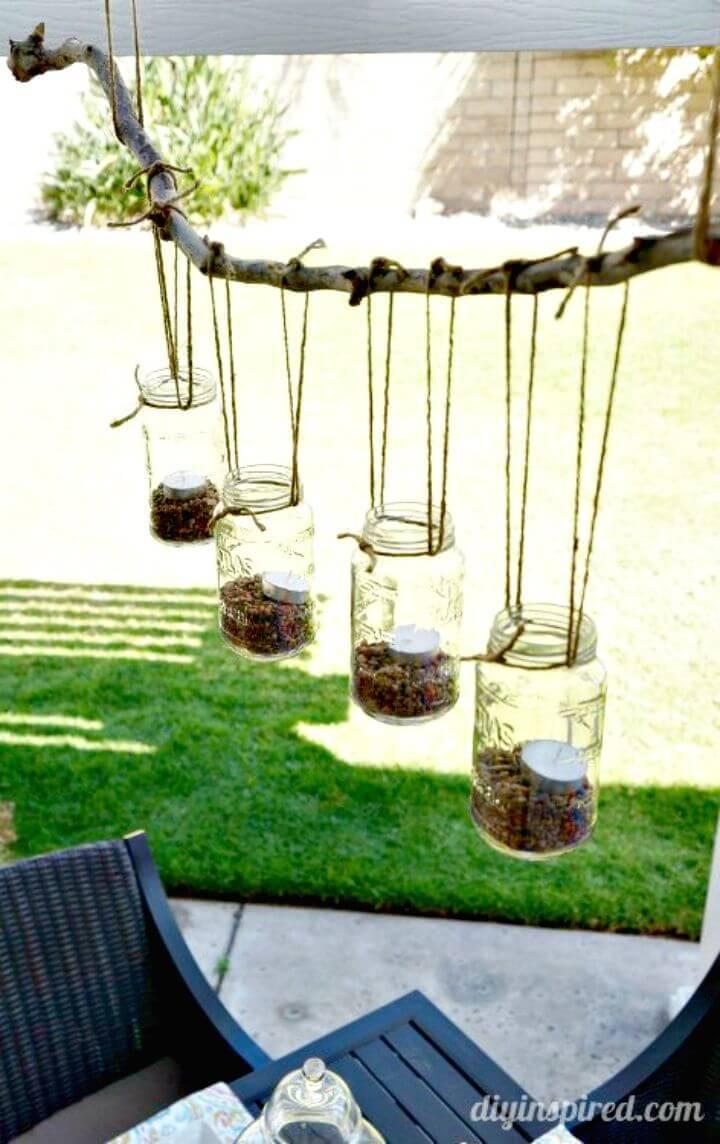 DIY Outdoor Mason Jar Chandelier -Lightning Ideas