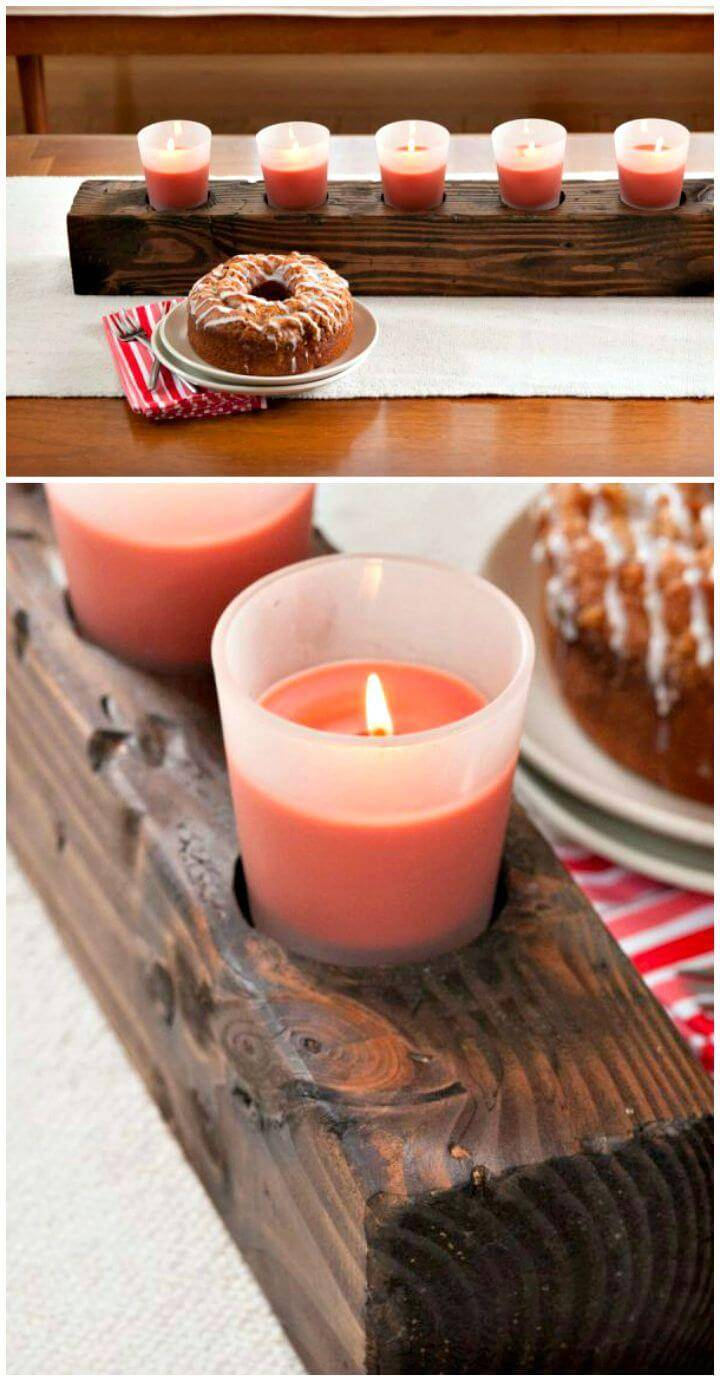 Build a Wooden Candle Centerpiece