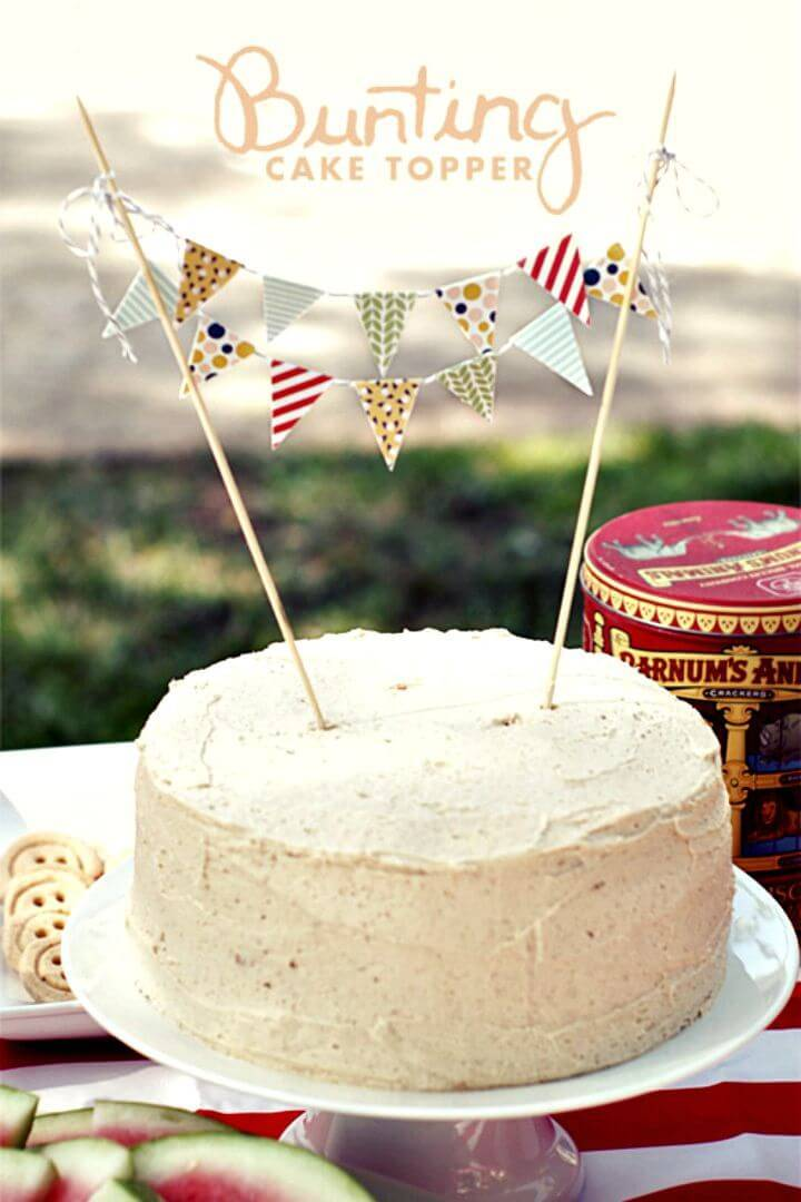 DIY Cake Bunting Tutorial - Summer Party Decorations
